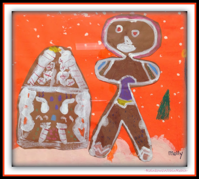 2nd Grad Gingerbread Painting via RainbowsWIthinReach