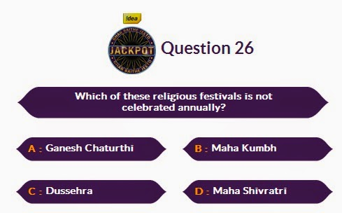 KBC 8 GBJJ Question of Today 22 September 2014