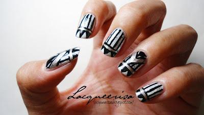 Lacqueerisa: Monochrome French Manicure