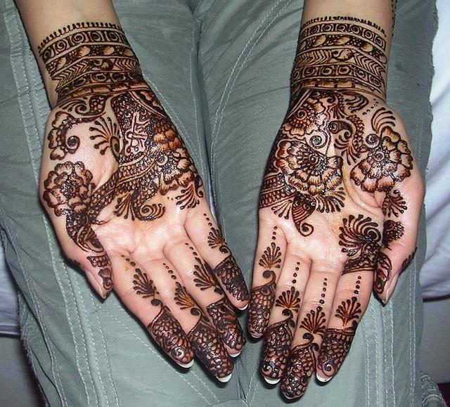 Arabic Henna Patterns On Hands Mehendi Designs