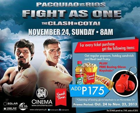Pacquiao vs Rios SM Cinema Ticket Prices Time