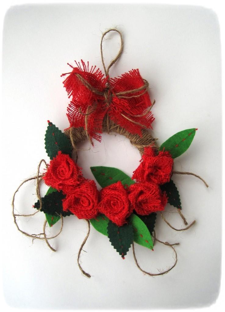 идея рождественского венка из натуральных материалов