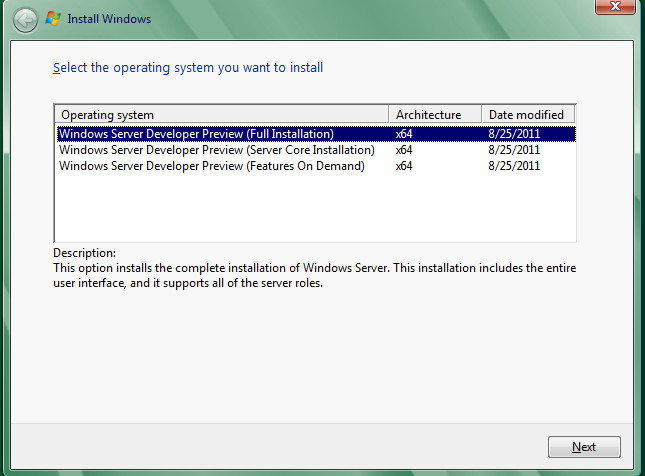 Installing windows server 8 developer preview my blog about active directory and everything else - Installer console active directory windows 7 ...