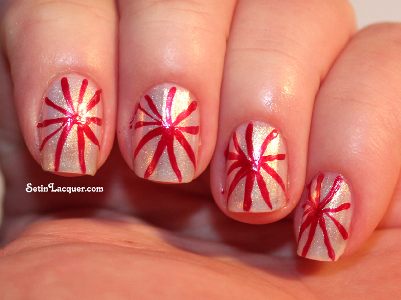 Peppermint Candy Nail Art Tutorial Set In Lacquer