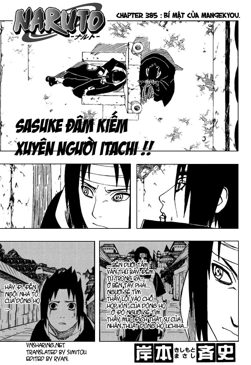 Naruto chap 385 Trang 1 - Mangak.info
