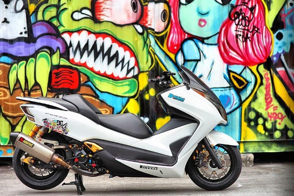 Modifikasi Honda Forza Minimalis