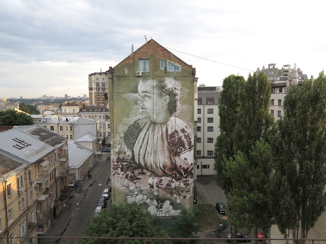While we last heard from him a few weeks ago in Melbourne, Guido Van Helten is now in Eastern Europe where he just finished working on a new piece in Ukraine.