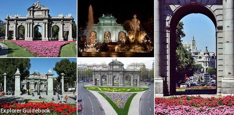 tempat wisata terkenal di Madrid Puerta de alcala gate
