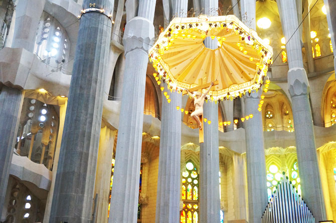 Architecture de Gaudi pour la Sagrada Familia