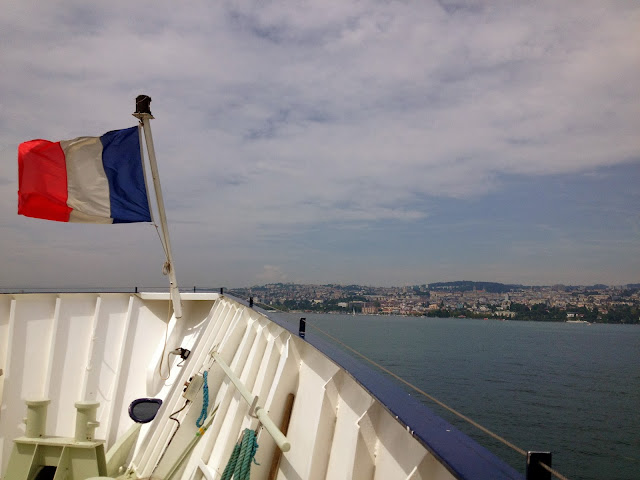 Ferry ride from Switzerland to France on Semi-Charmed Kind of Life
