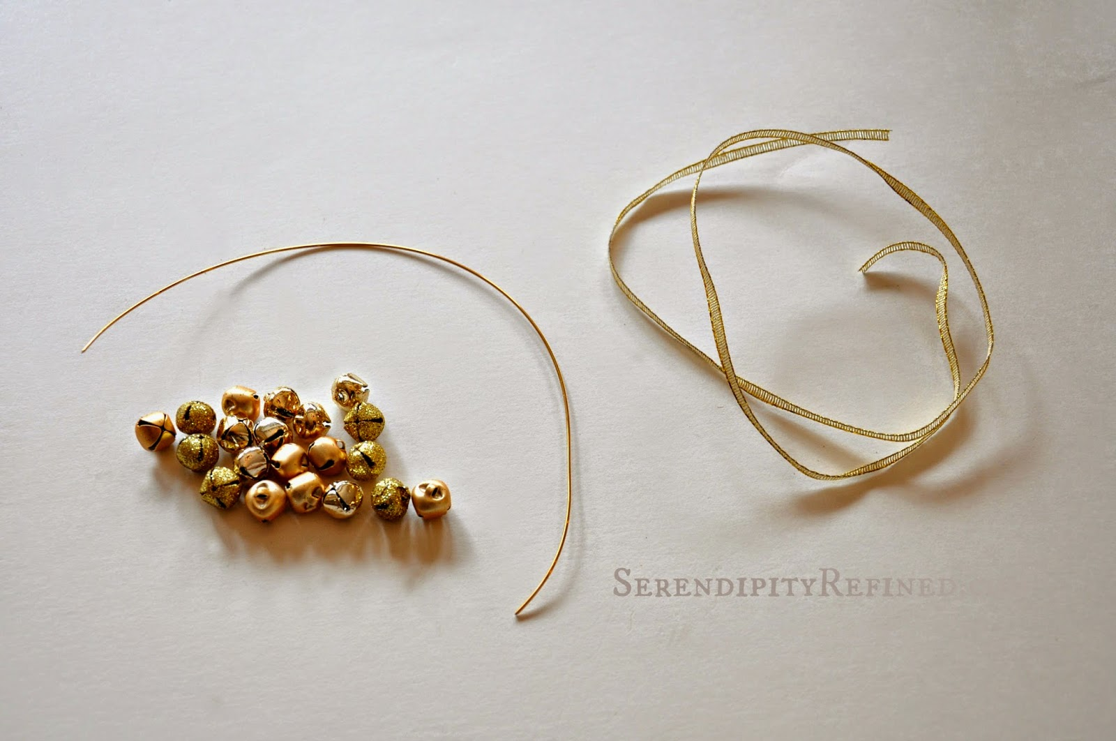 Jingle bell ornaments - Refined Blog Easy Gold Jingle Bell Wreath Ornament Day 2
