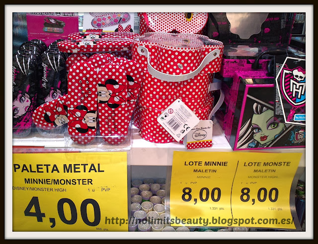 Lotes de maquillaje Minnie y Monster High