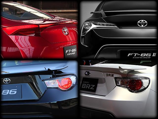 tylne lampy, Toyota GT86, Subaru BRZ, Scion FR-S, koncept