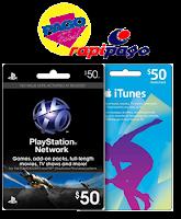 Comprar Códigos iTunes y PSN USA por RapiPago y PagoFacil