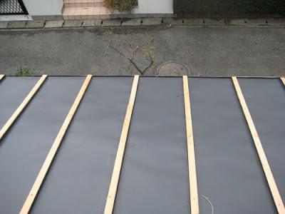 横浜市港北区 瓦屋根~ガルバリュウム鋼板桟葺き 屋根リフォーム 屋根材納め
