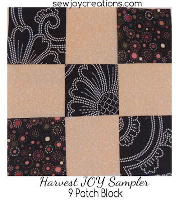 9 patch block for Harvest JOY sampler