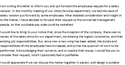 Salary Increase Notice To Employee – Request for Salary Increase Letter
