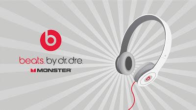 White beats headphones by Dr Dre wallpaper