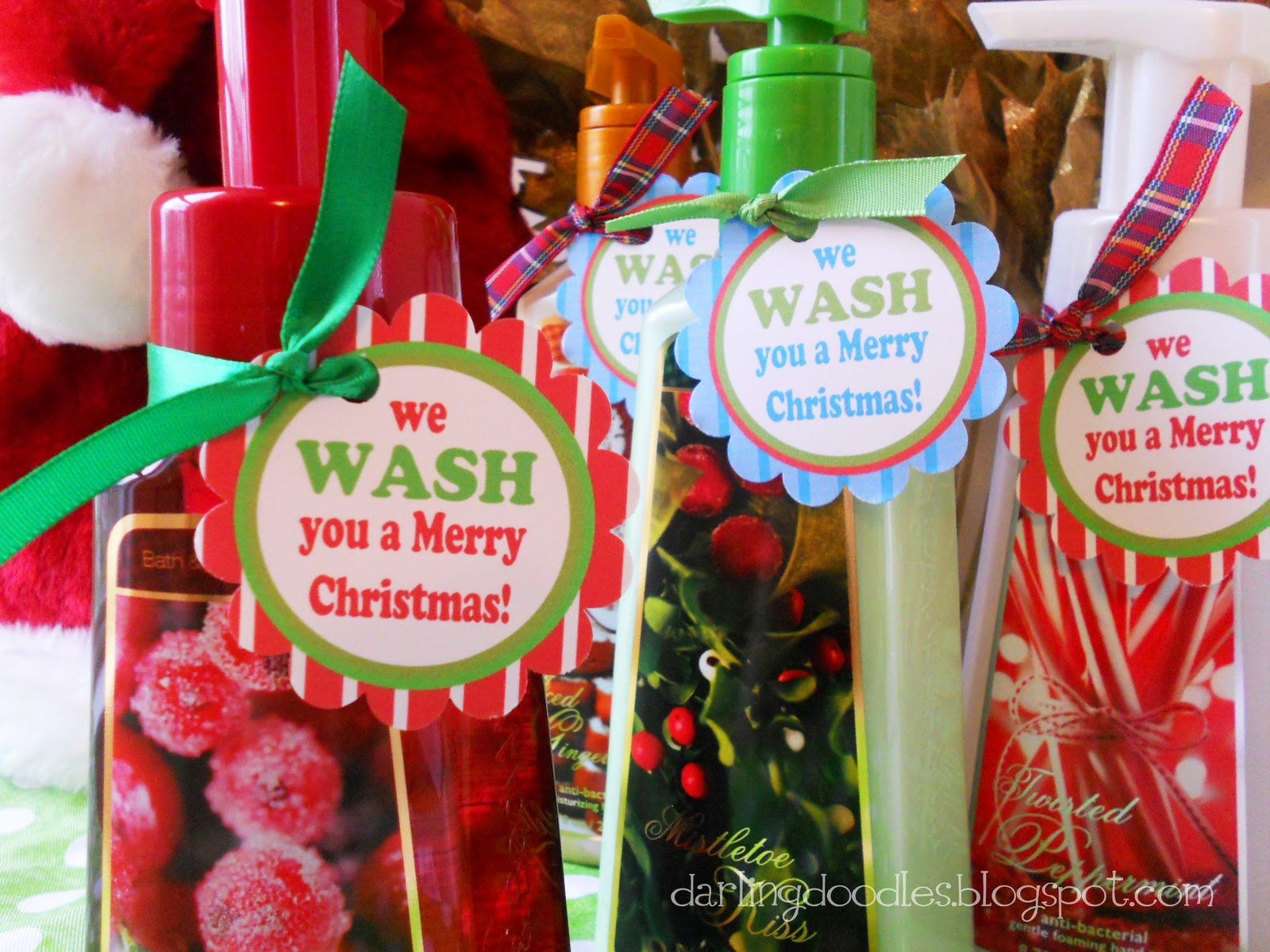 photograph regarding We Wash You a Merry Christmas Free Printable known as Darling Doodles: 12 Times of Present-mas, Reward #1