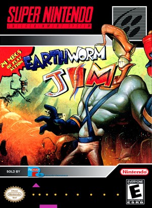 EarthWorm Jim snes rom game cover
