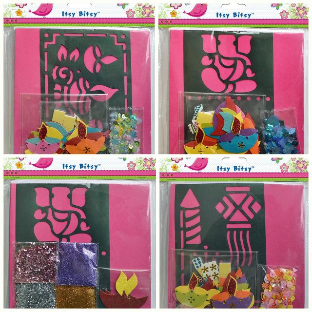 diwali card making kits itsy bitsy