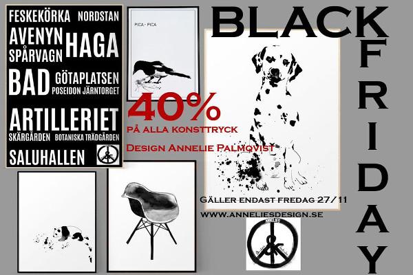 black friday, annelie palmqvist, poster, posters, print, prints, konsttryck, tavla, tavlor, webbutik, webbutiker, webshop, nettbutikk, nettbutikker, plakat, plakater, svart och vitt, svartvit, svartvita, vitt, vit, vita, stol, stolar, grafiska, grafiskt, panda, dalmatin, dalmatiner, göteborg, göteborgs, göteborg stad, städer, skata, fågel