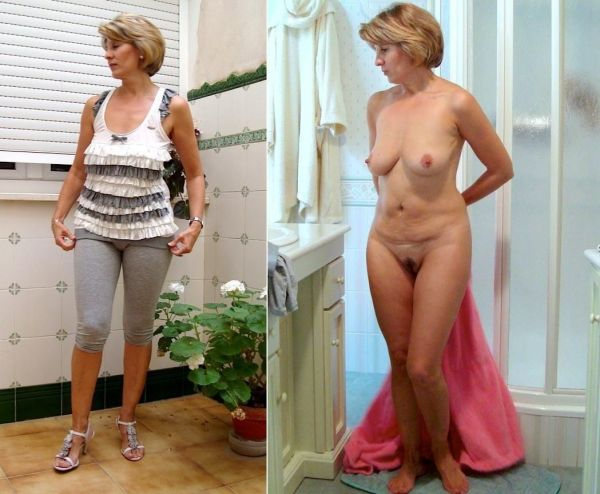 dressed2undressed: Mature Clothed And Nude