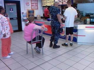 funny picture fat woman in mc donalds