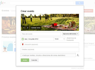 Eventos Google Plus google+