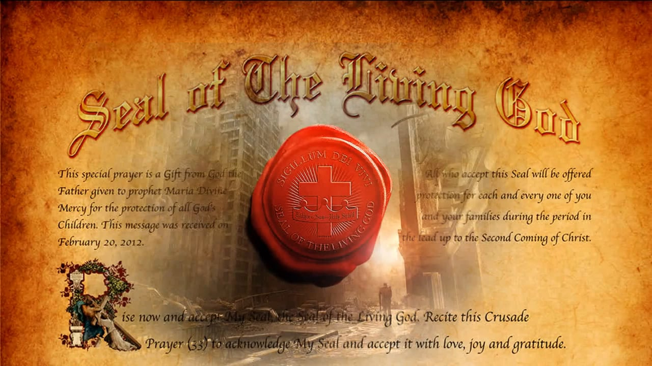 The Seal of the Living God (the promised Holy Spirit), a down payment for the resurrection in the future (Ephesians 1:13-14)
