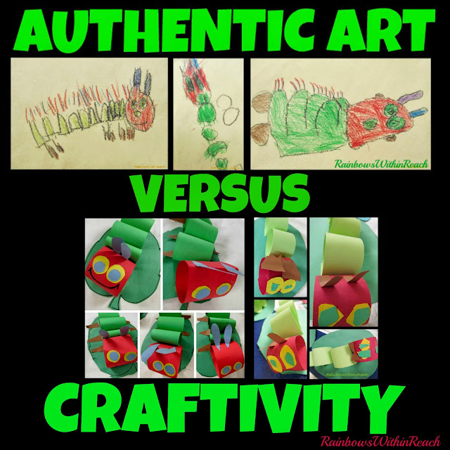 AUTHENTIC Art versus Craftivity: Examples, Opinion and Insight at RainbowsWithinReach