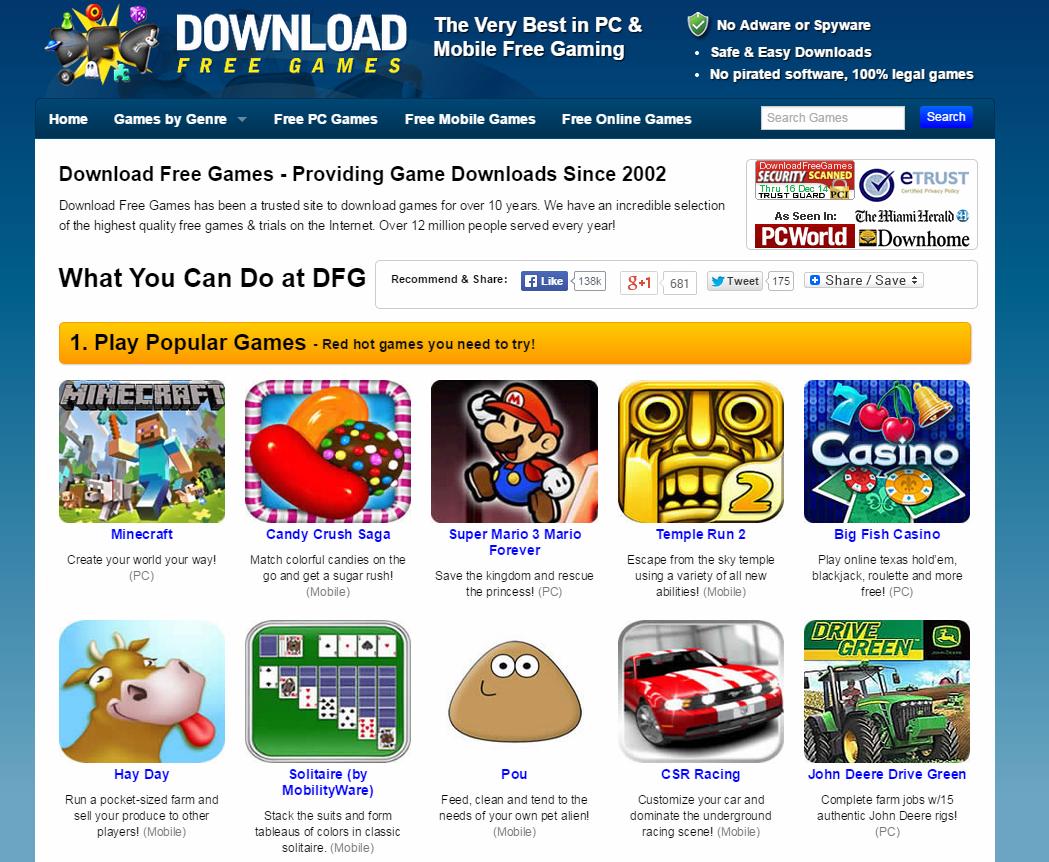 Trang web game online