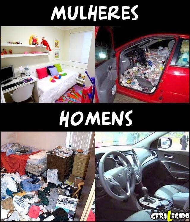 Prioridades de homem e mulher