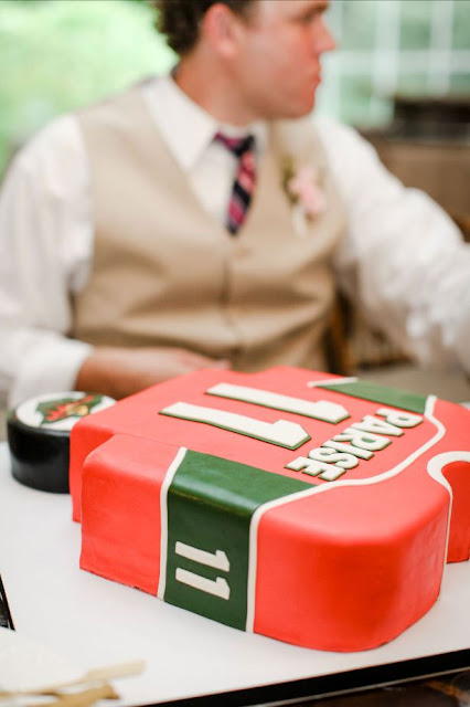 MN Wild Jersey Groom's Cake and Puck Cake
