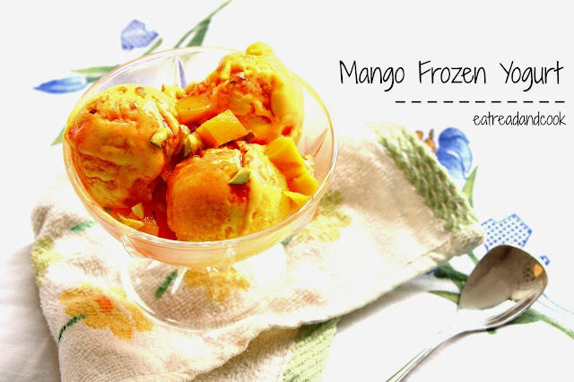 how to make Mango Frozen Yogurt