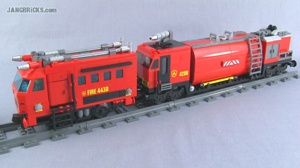 Lego Custom Pf Fire Train Moc