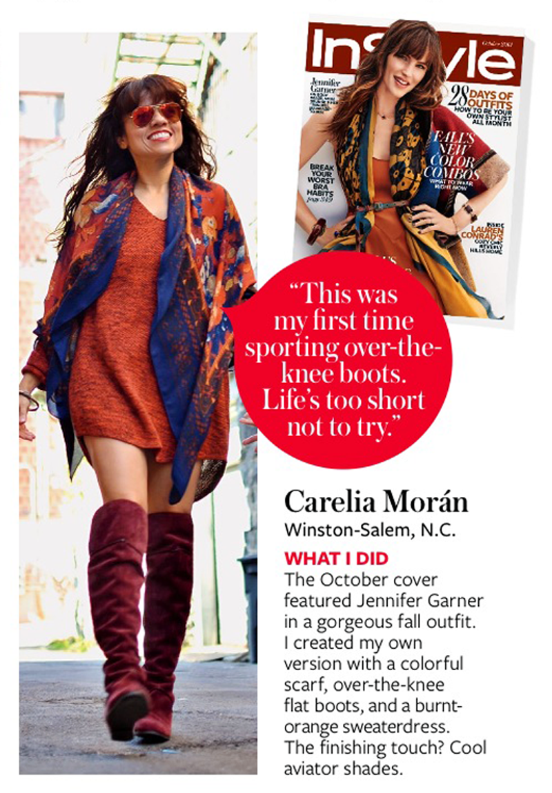 Carelia Moran InStyle Magazine Feature