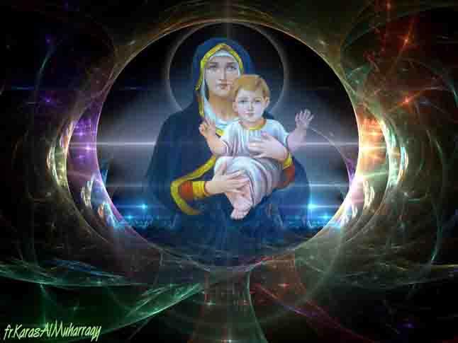 صور القديسة مريم من تصميم الراهب القمص كاراس المحرقي