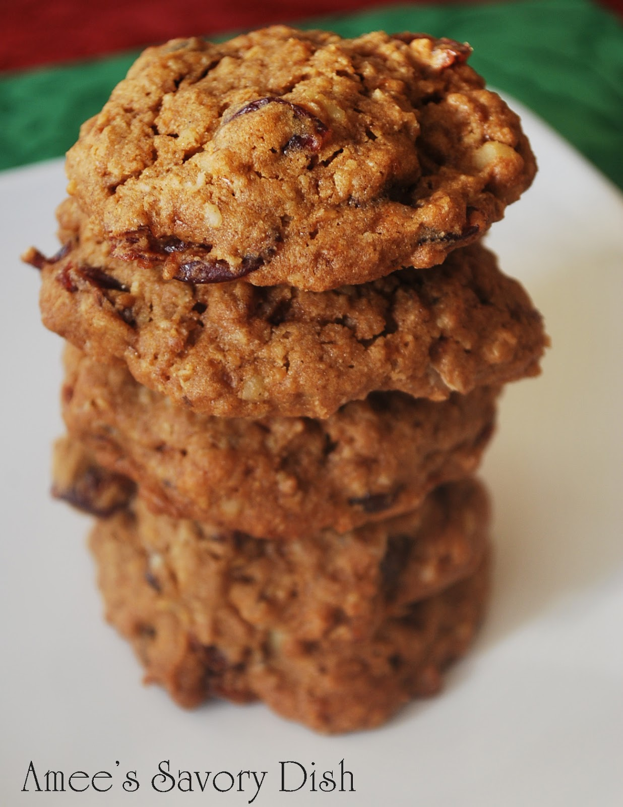 ... Walnut Oatmeal Cookies....and more healthier Christmas cookie options