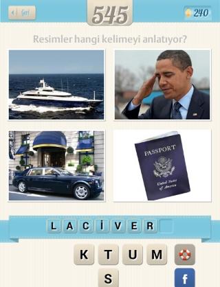 Resimli Kelime Bulmaca obama yat araba pasaport cevabı