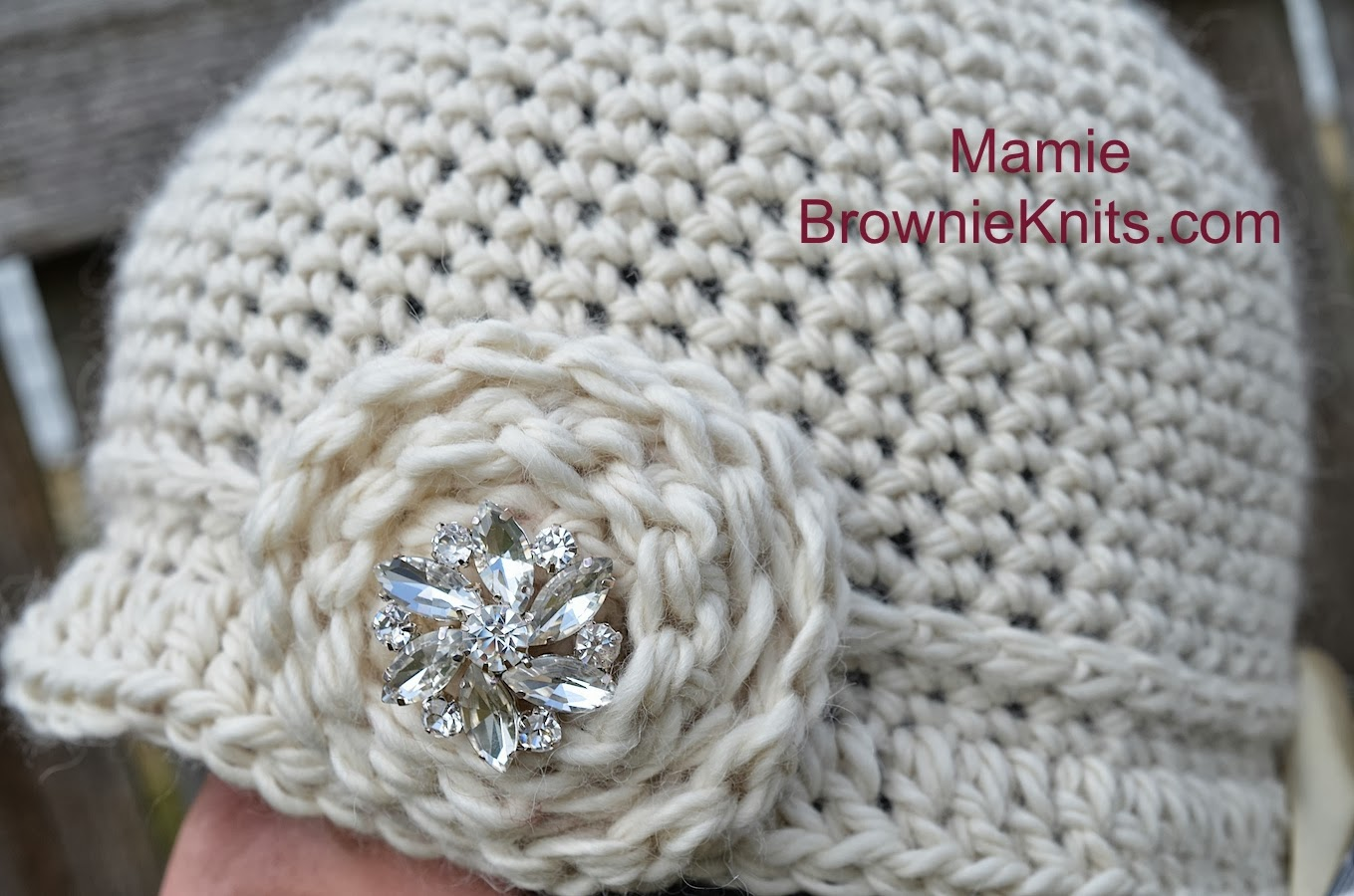 Brownie knits brownie knits wednesday mamiea new crochet hat the mamie hat and name was inspired by my great great aunt mamie i only met her one time when we traveled to alabama when i was about six bankloansurffo Images