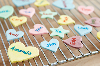 Personalized Homemade Candy Hearts