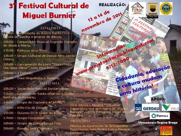 3° Festival Cultural de Miguel Burnier