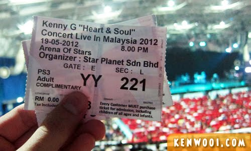 kenny g ticket
