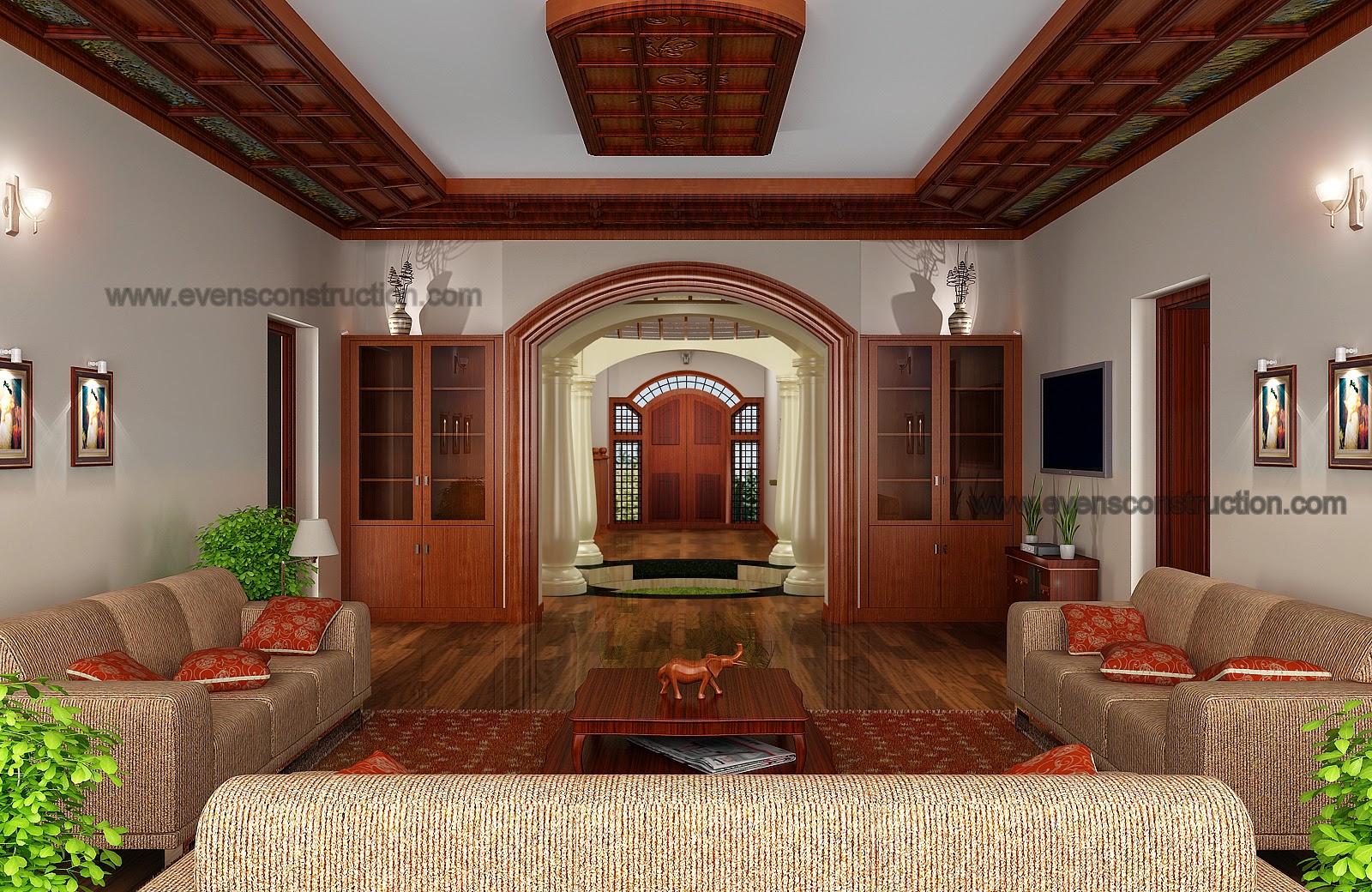 Evens construction pvt ltd modern kerala living room for Modern living room in kerala