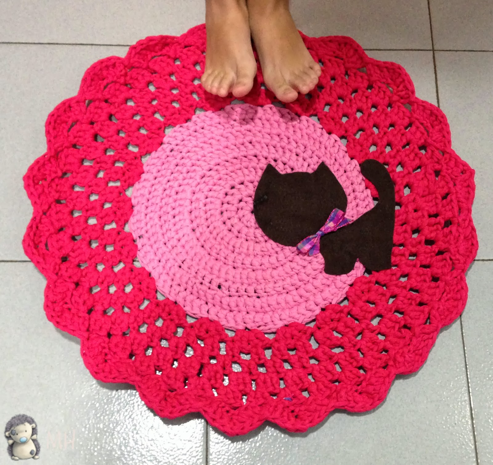Madres hiperactivas alfombra de trapillo con gatito for Alfombras de hilo