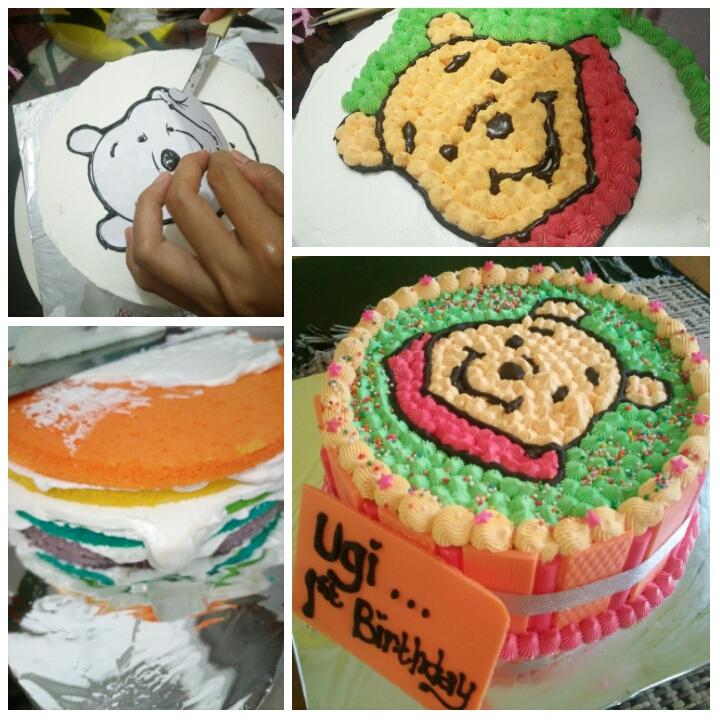 Alna Want To Share Membuat Birthday Cake Karakter