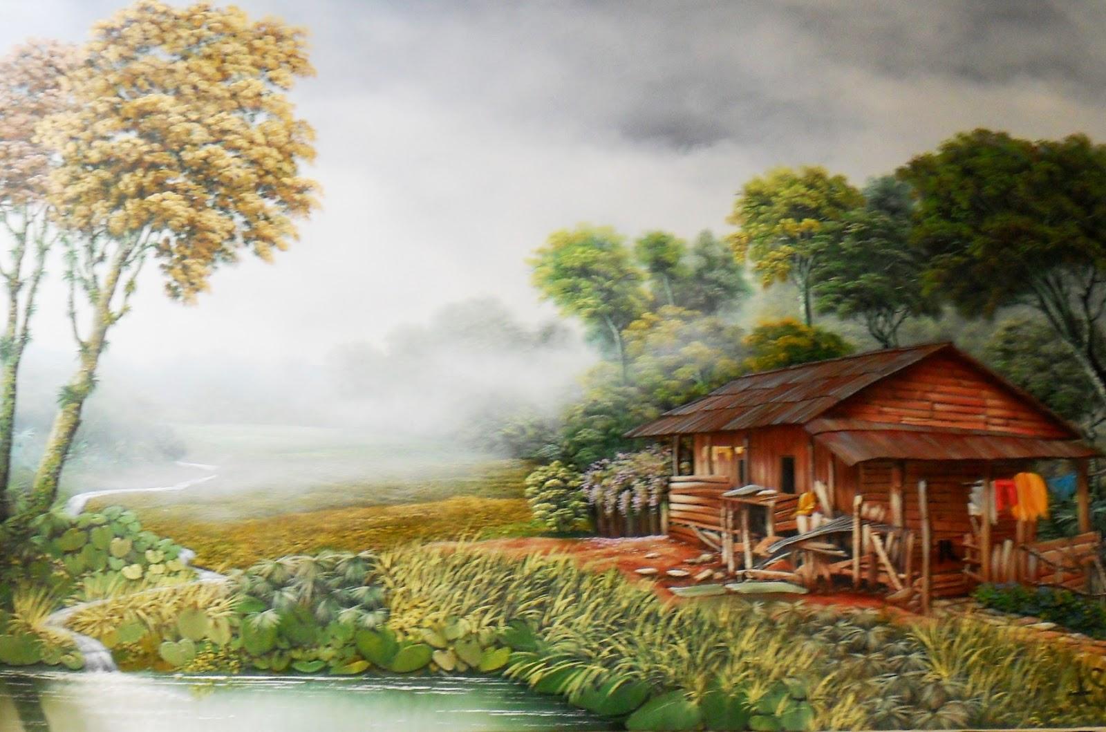 Pintura moderna y fotograf a art stica cuadros - Casas viejas al oleo ...