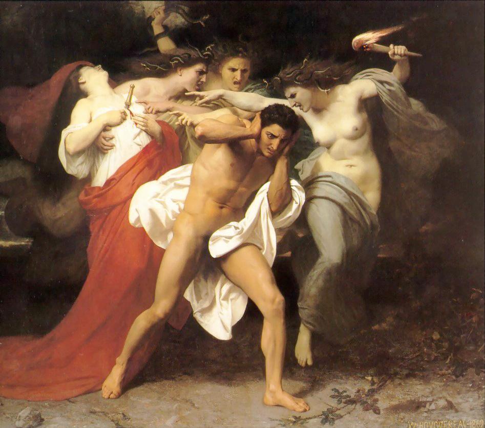 O Remorso de Orestes. 1862. Óleo sobre tela - 227 x 278 cm