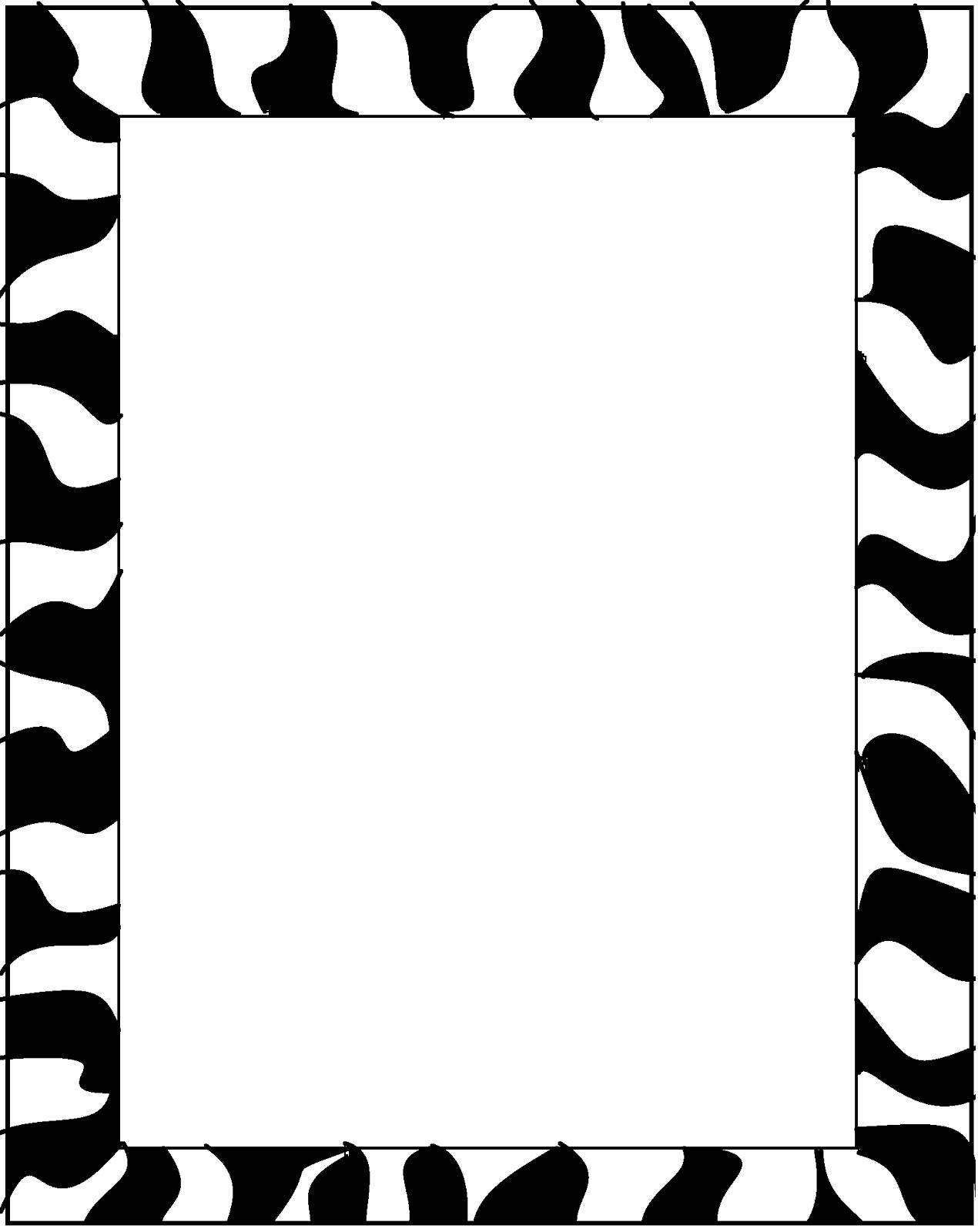 Zebra Border For Microsoft Word bigking keywords and pictures